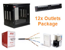 Data Cabling Installation Package (12x CAT5e outlets)