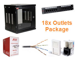 Data Cabling Installation Package (18x CAT5e outlets)