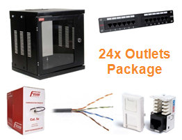 Data Cabling Installation Package (24x CAT5e outlets)