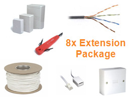Telephone cabling Installation Package (8x Telephone Extension)