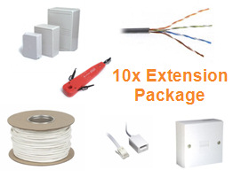 Telephone cabling Installation Package (10x Telephone Extension)