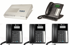 4 line small business Telephone System with 1x KS07 20 phone & 3x Orchid XL220 phones