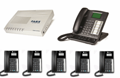 1x Master Key phone + 5x XL220 phones with business system