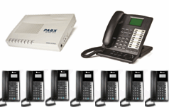 1x Master Key phone + 7x XL220 phones with business system
