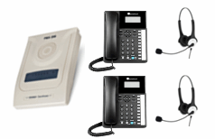 Orchid 207 telephone system with 2 Binaural Headset Included