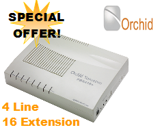 Orchid 416 Business Telephone System | 4 line 16 users | PBX MASSIVE DISCOUNT