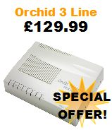 Orchid 308 Business Telephone System with 3 Lines and 8 Extensions Special Offer