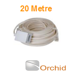 Orchid DIY 20m Extension Cable to be used with Orchid Telephone Systems and Compatible Phones