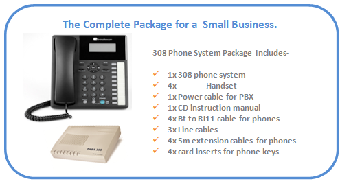 small_business_telephone_system_with_3_lines,_orchid_308_4_x_phones_with_package_details